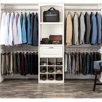 Hot 6 Pcs Wide Shoulder Wooden Hangers with Non Slip Pants Bar for Coat Clothes Dress Suit LFD