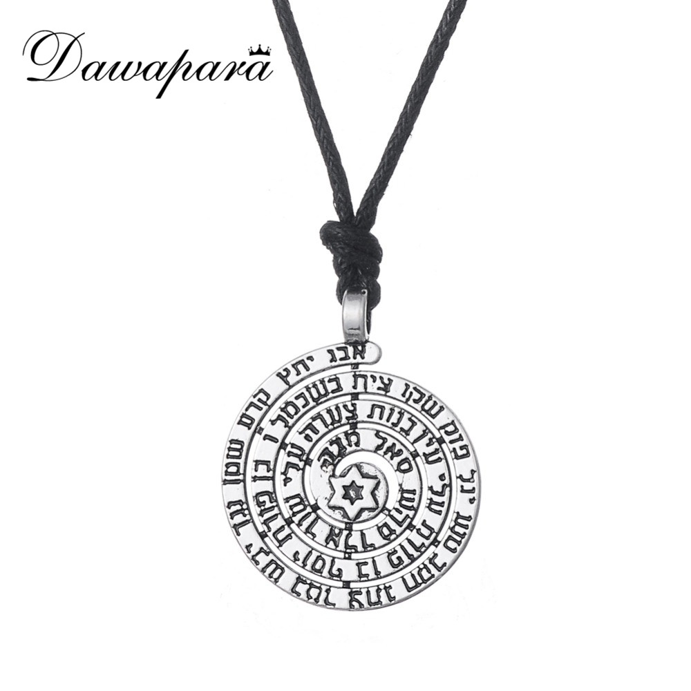 US $0 99 50% OFF|Dawapara Holy Names Tibetan Silver Plated Star of David  Kabbalah Ethnic Necklace Kolye-in Chain Necklaces from Jewelry &  Accessories