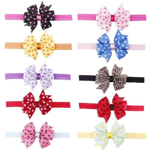 Baby Headband Fashion Cute Kids Hair Bands For Baby Girls Baby Headband Bowknot Hair Band Accessories Headwear Elastic Gift