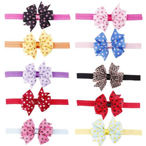 Fashion Cute Kids Girl Baby Headband Bowknot Hair Band Accessories Headwear Elastic Gift