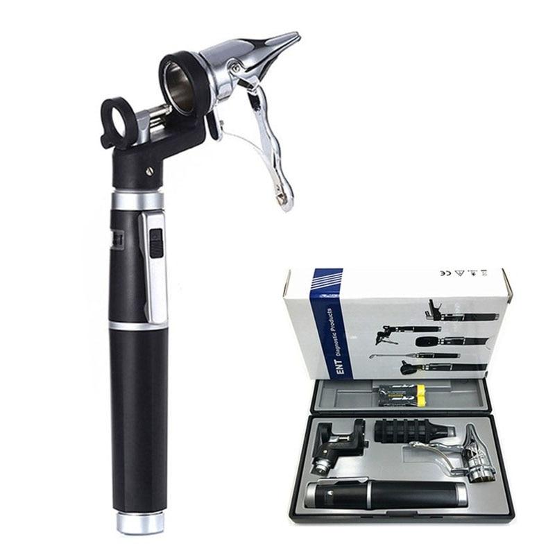Professional Physician Metal Medical ENT Kit Diagnostic Otoscope Kit Ear Care Tool Direct Reading Ear Endoscope Otoscope