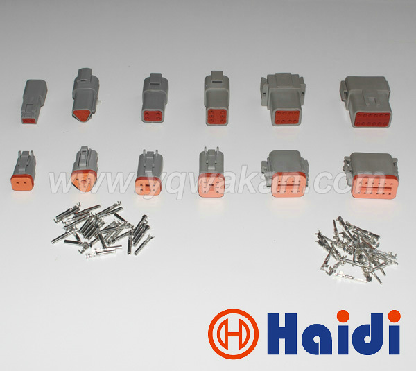 Free shipping 1set complete 6 models Deutsch DT06/DT04 2/3/4/6/8/12 Pin Engine/Gearbox connector for car,bus,motor,truck цена и фото