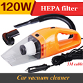 promotion!! Car Vacuum Cleaner 5m 120w 12v Super Suction Wet And Dry Dual Use Vacuum free shipping