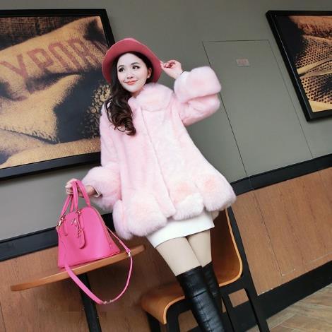 Femme De Femmes Artificielle 2018 Taille Z205 Plus Fausse Faux Moelleux La Fluffy Manteau Furry Fourrure D'hiver Outwear Veste 0RUEv