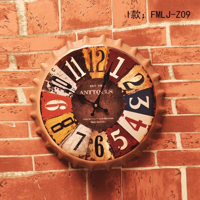 Nouvelle arrivée Tin Sign ANTTQUES Vintage Métal Peinture Bière couvercle Horloge Murale Bar pub Papier Peint Décor Rétro Murale affiche Artisanat