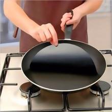 5pcs/set Round Teflon Non-stick Mat Pan Fry Liner Sheet Cooking Wok Sheet Pad Kitchen BBQ Baking Mats 54077