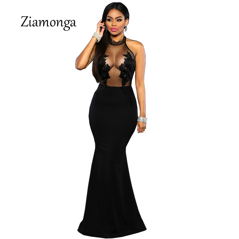 Ziamonga Maxi Vestito Da Partito Da Sera Elegante 2018 Manica Lunga Formale  Lunghezza Del Pavimento Delle 9888244a42d