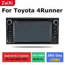 2 Din Android radio bluetooth GPS Navigation wifi Stereo video For Toyota 4Runner SW4 Hilux Surf 2002~2009 Car Multimedia все цены