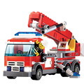 Bombero de alta Calidad Bloques de Construcción Camión de extinción de Incendios Fuego Bloques Educativos Juguetes para Niños Bombero DIY