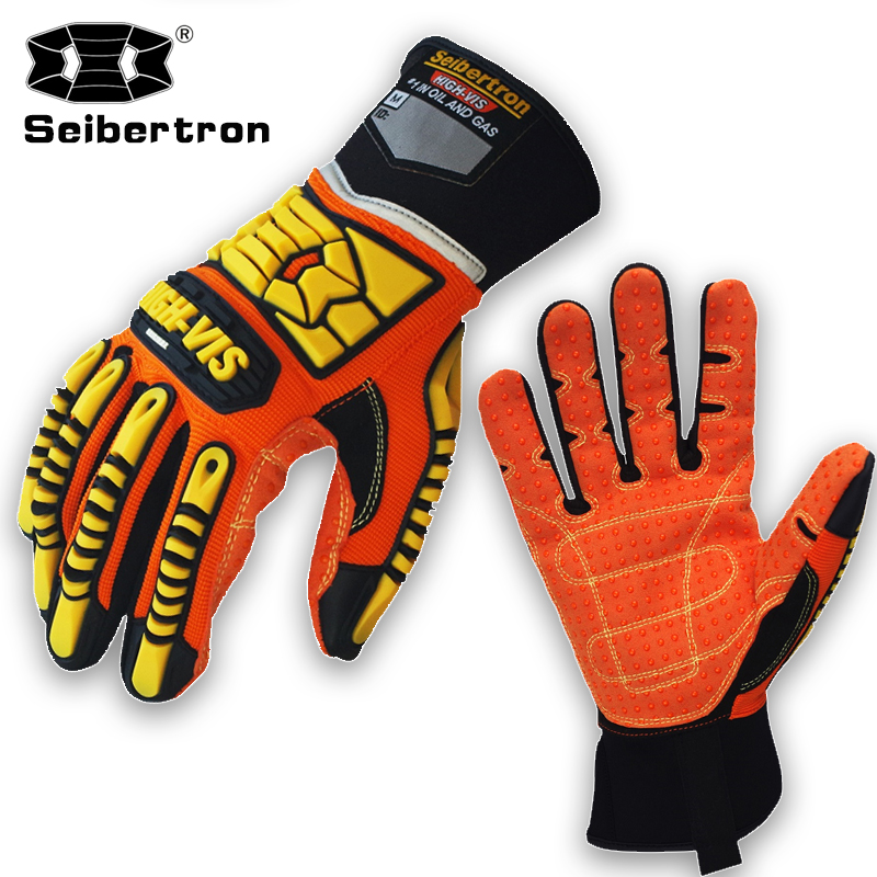 New Seibertron High-vis gloves Mens Oil Gas worker Safety HIGH DUTY Impact Protection SDX2 S M L XL XXL image