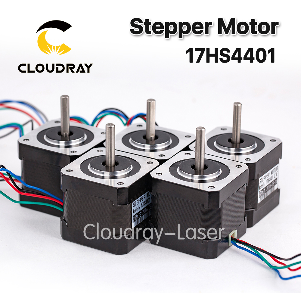 5 unids 4 Plomo nema17 Motores paso a paso 42 NEMA 17 42 bygh (17hs4401) 40mm 1.7a 3D impresora Motores y CNC XYZ
