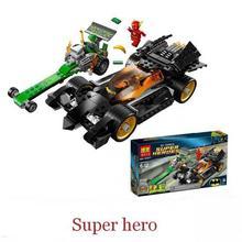 Купить с кэшбэком 281pcs Batman Bela 10227 DC Comics The Riddler Chase The Flash Super Heroes DIY Building BlocksToys For Children Gift brinquedos