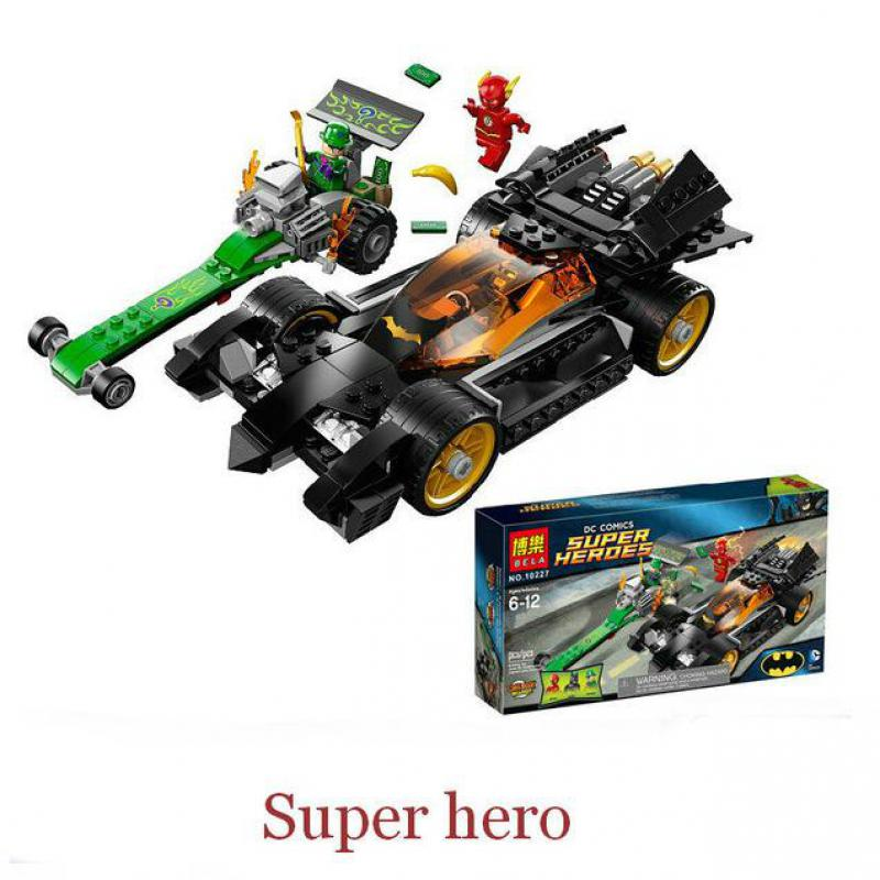 281pcs  DC Comics Super Heroes The Riddler Chase Flash Batman DIY Building Blocks Toys For Children Gifts Compatible With Lego decool 7105 dc super heroes batman the tumbler building block brick tank toys for children boy game gift compatible lepin bela