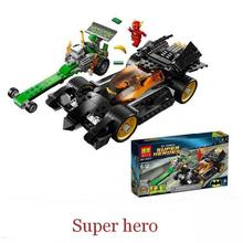 281pcs Batman Bela 10227 DC Comics The Riddler Chase Flash Super Heroes DIY Building BlocksToys For Children Gift brinquedos