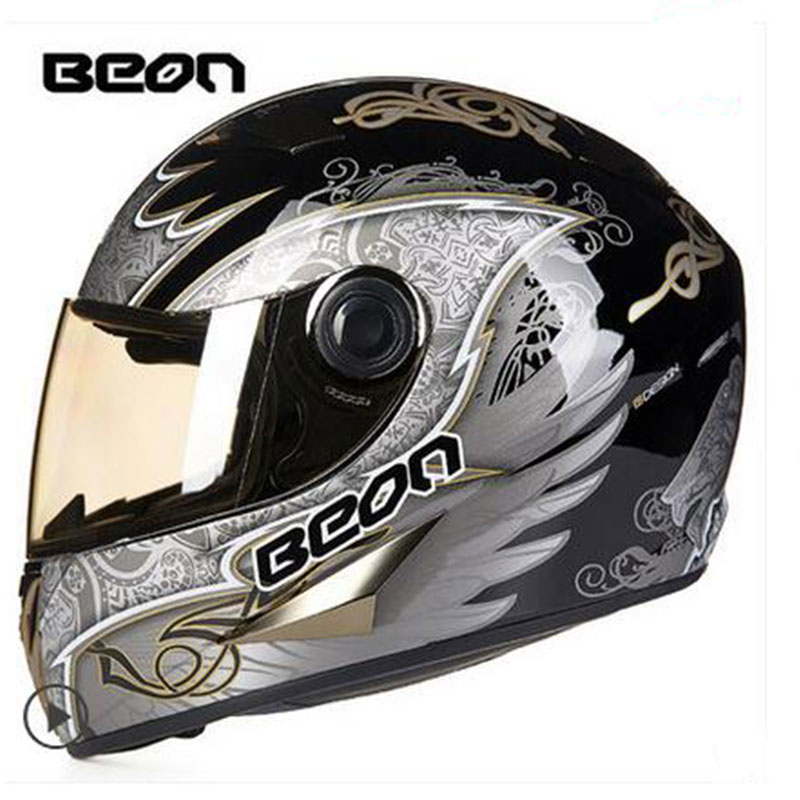 BEON Motorcycle Motorbike full face helmet, motorbike motocross helmet Casco Capacete Protective gear ECE scooter helmet