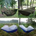 Portable High Strength Parachute Fabric Hammock Hanging Bed with Mosquito Net 3 Colors TB Sale