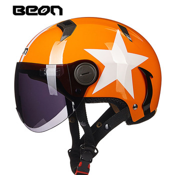 capacete motocross half face Helmet for men women, 102 motorcycle MOTO electric bicycle safety headpiece scoote dirt bike