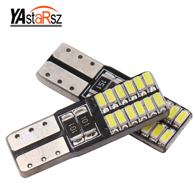 1x Super bright 24 SMD 4014 led car light 12V w5w T10 led auto canbus cob externa clearance bulb door reading lamp turn signal