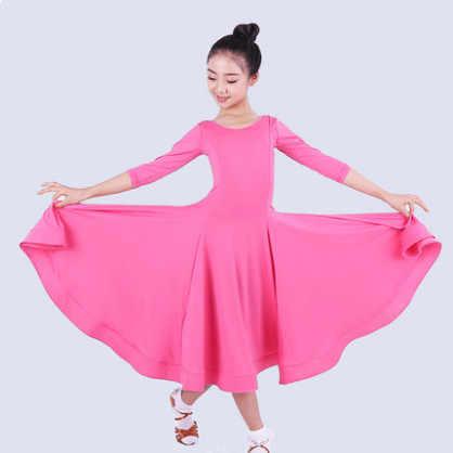 2019 neue Mädchen Ballsaal Tanzen Walzer Tango Kleid Kinder Salsa Bachata Latin Dance Kostüm Latin Tanzen Kleidung