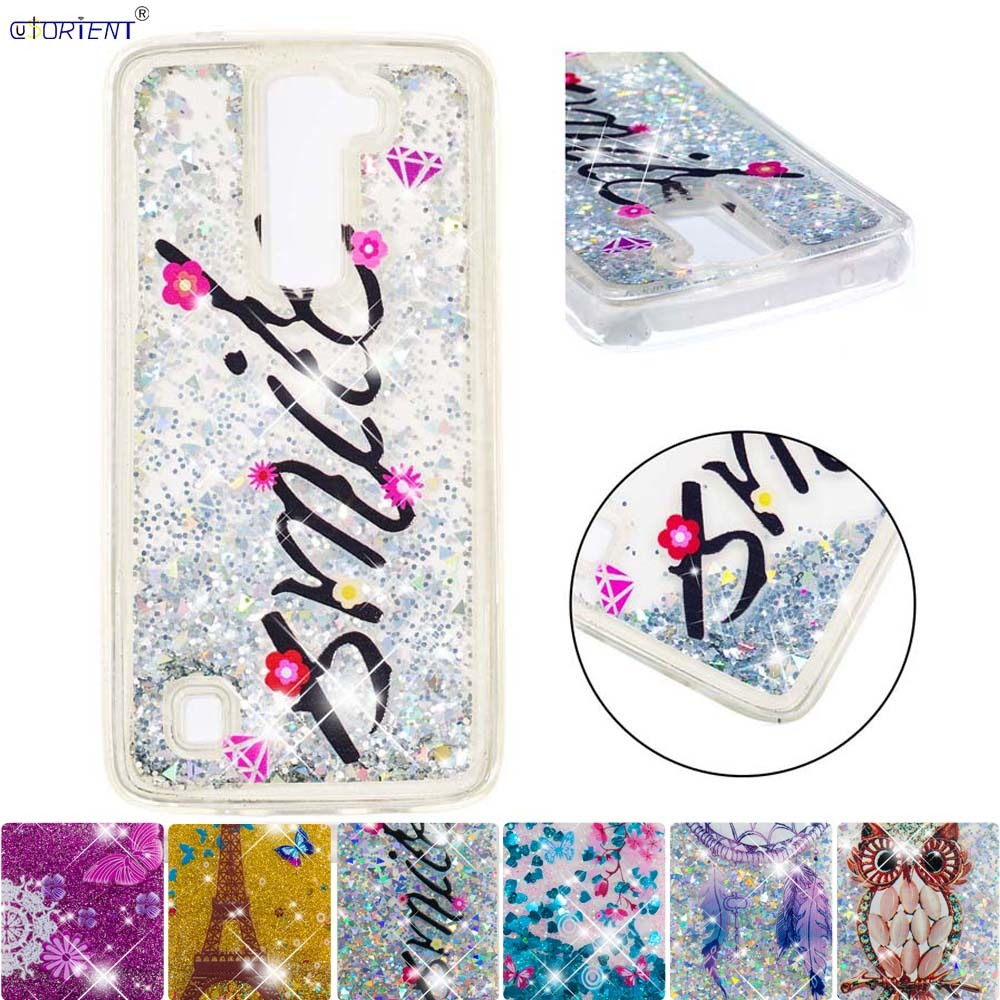 Glitter Cover Lg K8 Tle K7 Soft Silicone Bumper Case Lg K 7 8 2016 Bling Liquid Quicksand Fitted Phone Cases K350e Csv-150 Funda Factories And Mines Cellphones & Telecommunications