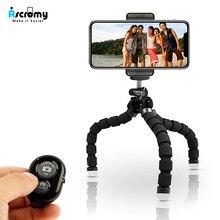 Mini elastyczna ośmiornica statyw telefon kamera Holde z pilotem Bluetooth dla Iphone 11 pro max xs xr X 8 7 Plus se 2 Samsung Xiaomi