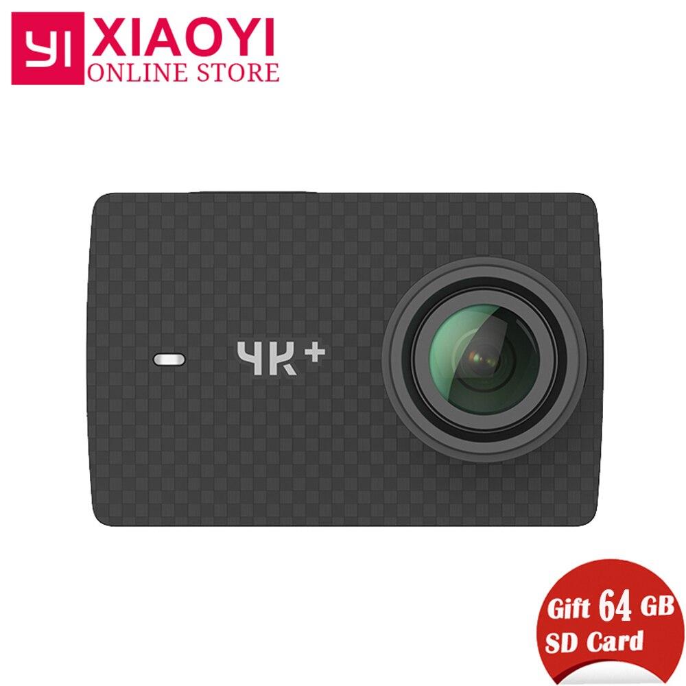 Бесплатный подарок 64 г SD карты Xiaomi Yi 4k Plus действие Камера Ambarella H2 4 К/60fps 12MP 155 градусов 2,19 Xiaomi Yi 4k + спортивные Камера