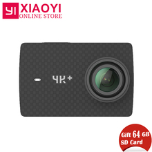 Free Gift 64G SD Card Xiaomi YI 4K Plus Action Camera Ambarella H2 4K/60fps 12MP