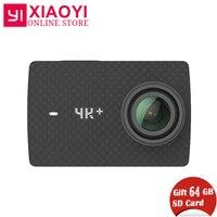 Free Gift 64G SD Card Xiaomi YI 4K Plus Action Camera Ambarella H2 4K/60fps 12MP 155 Degree 2.19 Xiaomi YI 4K+ Sports Camera