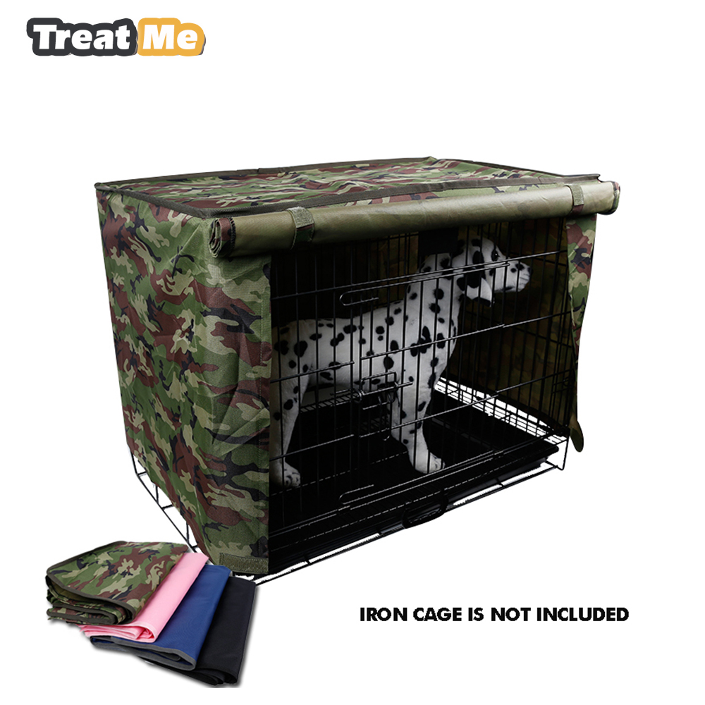 Waterproof pet crate cover for wire crate dog kennel cage for Outdoor dog crate cover