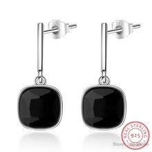925 Silver Square Earring Women Jewelry S925 Sterling Silver