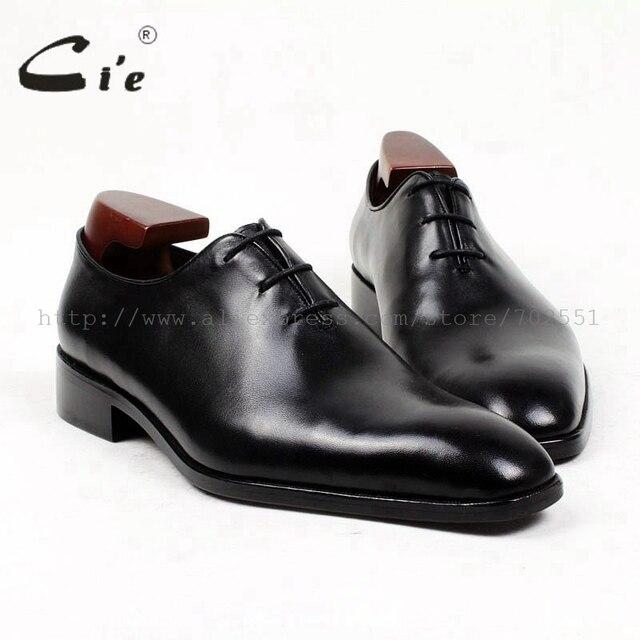 Cie pria kulit sepatu kaki persegi seluruh cut bespoke kustom buatan tangan pria  oxford 100% 4921013e9f