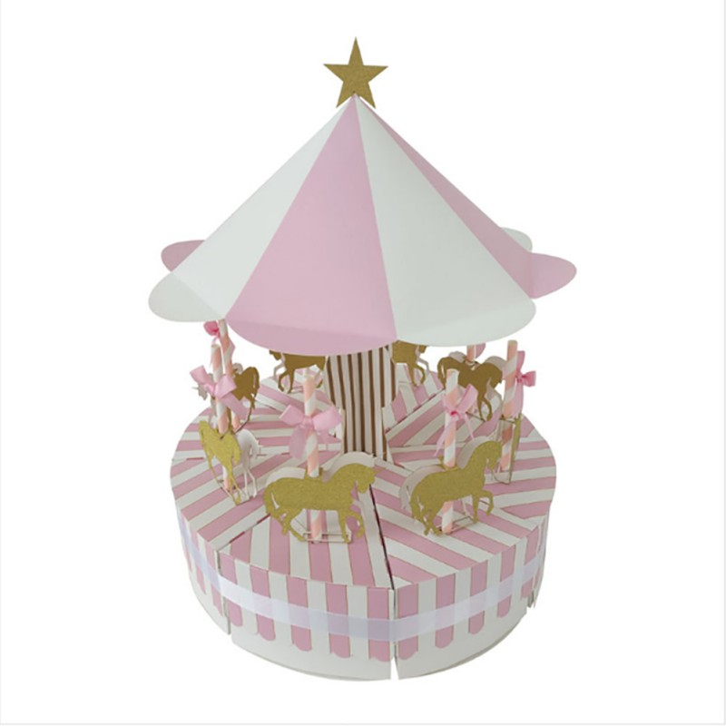 Wedding Gift Decoration Ideas: Unique Carousel Candy Box For Unicorn Party Gift Birthday