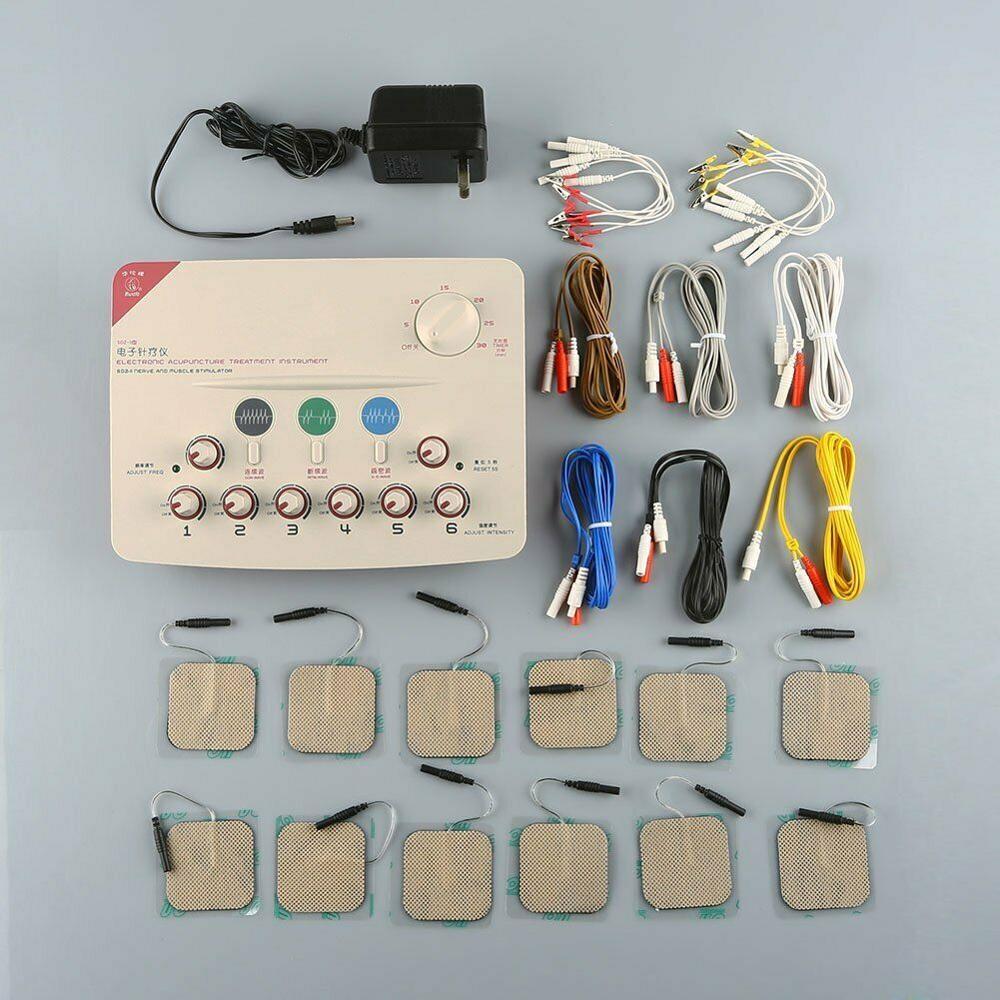 Hwato SDZ 6 каналов, низкочастотный массажный аппарат с поддержкой 110 220 В или батареи|Меридиональный терапевтический аппарат|   | АлиЭкспресс