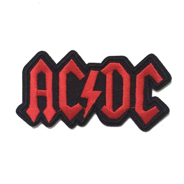 acdc ac dc music band logo patch rock heavy metal punk music band rh aliexpress com Hard Rock Band Logos Screamo Band Logos