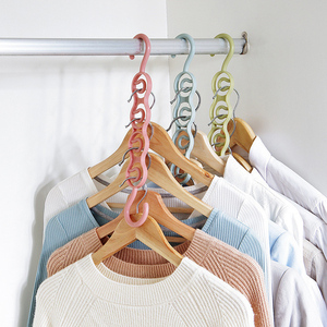 Multifunction 4 Holes Clothes Hanger Clothes Drying Rack Plastic Scarf Coat Hangers Hook Wardrobe Clothes Layer Storage Racks