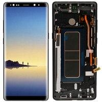 Оригинальный N950F супер Amoled дисплей для samsung Galaxy Note 8 ЖК экран с рамкой SM N950F ЖК кодирующий преобразователь сенсорного экрана в сборе