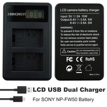 NP-FW50 Battery Charger NP FW50 bateria USB Dual for SONY NEX-3 NEX-5 NEX-6 SLT-A55 A33 A55 A37 A3000 A5000 A6000 Camera