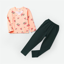 2019  Kids Thermal Underwear Solid Thick Cotton Childrens Warm Suit Clothes Baby Boys Girls Long Johns Pajamas