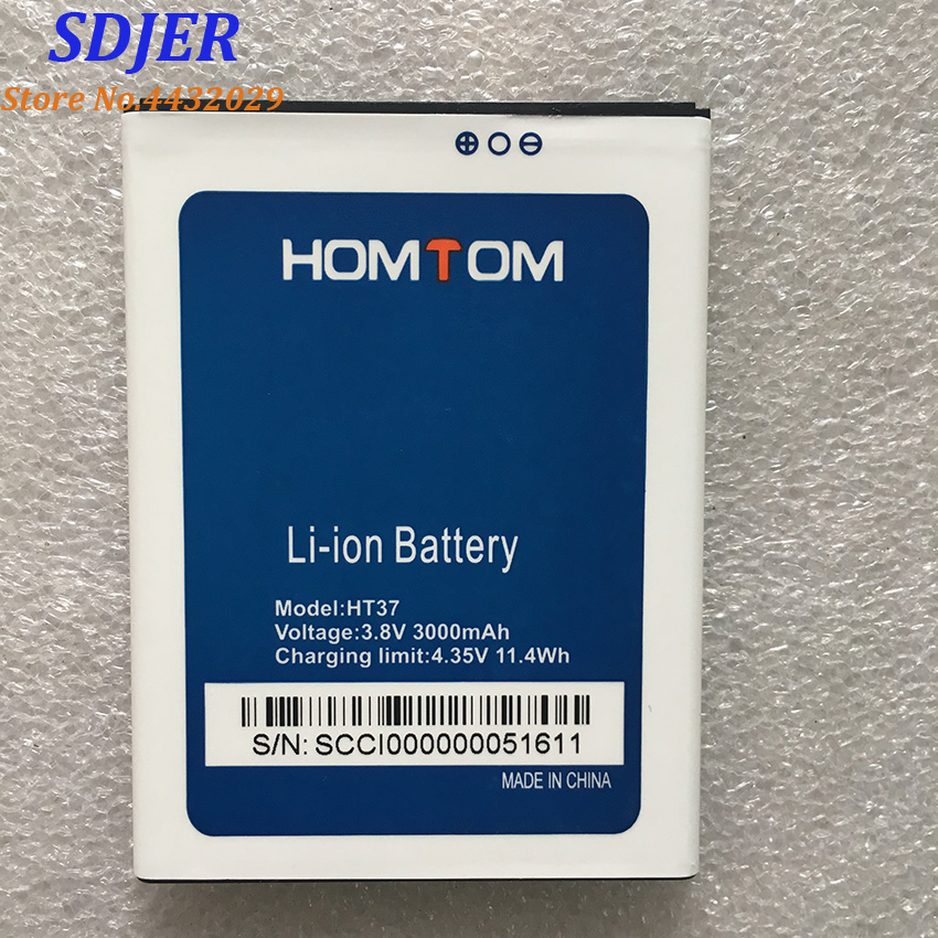 100% New HOMTOM HT37 Pro Battery Large Capacity Full 3000mAh Backup Batteries Replacement For HOMTOM HT37 Smart Phone(China)