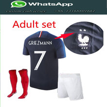 dcbca253ffb ... promo code for franceing 2018 world cup soccer jerseys kitsock mbappe  griezmann pogba jersey 18 19