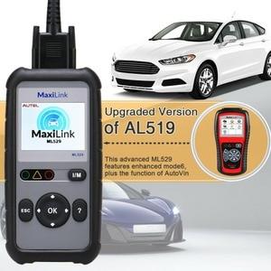 Image 3 - AUTEL MaxiLink ML529 Scanner Auto OBDII Mode 6 OBD2 Car Diagnostic Tool eobd Built in DTC Lookup Speaker Clear Code Reader AL519