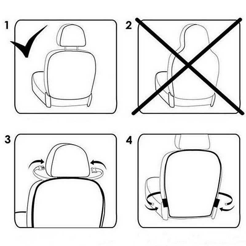 1 ADET Araba Koltuğu arka kapak Koruyucu Çocuklar Çocuklar Için Bebek Tekme Mat Çamurdan Kir Temiz Araba Koltuğu Kapakları Otomobil tekme Mat