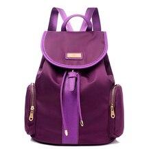 Hot Sale Nylon Women backpack Big Capacity School Bags For Teenagers Printing Backpack For Girls Mochila   LJ-445