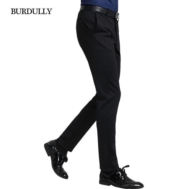 Otoño Invierno Moda Hombres Jóvenes Coreanos Pantalones Negros Delgados Pantalones Cargo de Los Hombres Pantalones Pantalones Largos Delgados Mediados de Cintura de Perfume Masculino