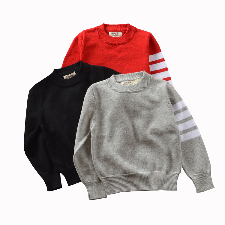 Baby Boys Girls Clothes 2017 New Autumn&Winter Pullover Stipred Long Sleeve Cotton Sweater For Children Knitted Outwear 1-5Yrs