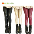 2016 Fashion Girls Pants Leather New Spring Baby Girls Legging 2-12Years Multi Color Trousers Kids Pants Children Clothing KP160