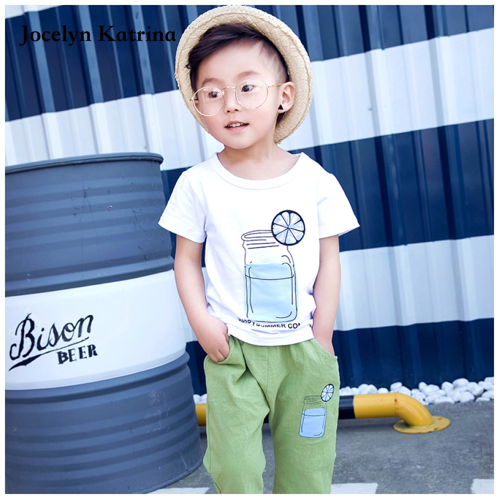 2017 Summer 1-4 Years Kids Baby Boys Sport Brand Boys Clothing Set 100% Cotton Cartoon T-shirts And Shorts Children Clothes new 2016 summer cartoon children clothing set plaid kids shorts t shirts 2pcs boys sport suit set fit for 2 7year y01