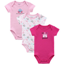 3 Pack Baby Girl Bodysuits with Short Sleeves Soft Cotton Snap Buttons 0-12 Months