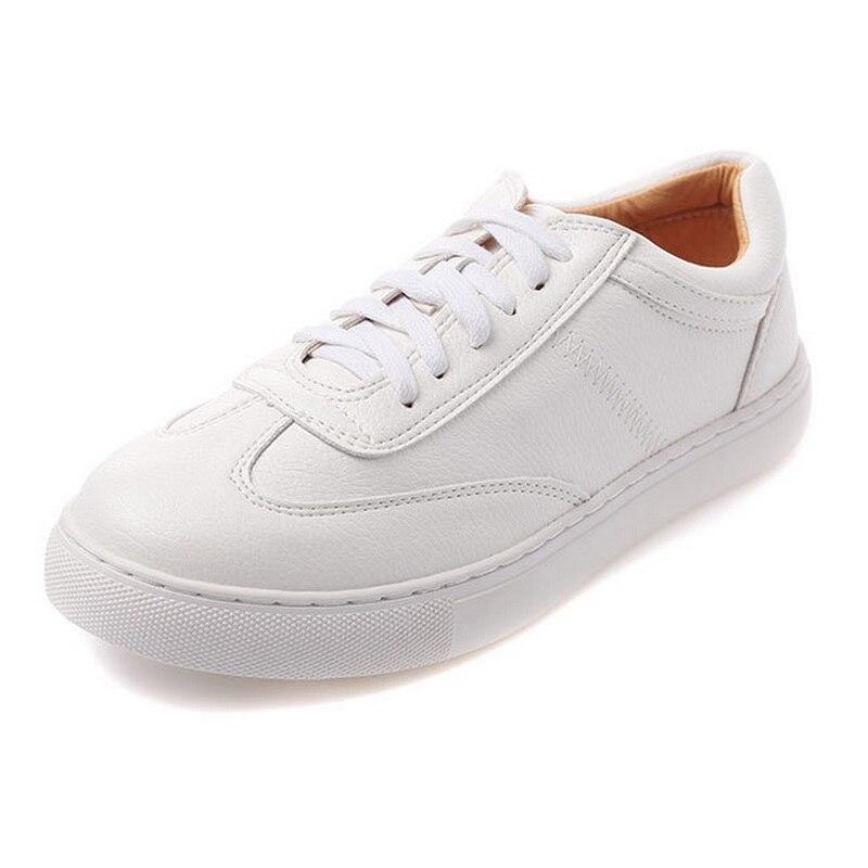 ФОТО Women Shoes Skateboarding Genuine Leather Soft Footwear Classic Sneakers Lights Light Brand Cool Sneakers AA20045