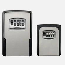 Большой размер +Ключ Сейф Хранение Органайзер Коробки с 4 цифрой Пароль Запасные Ключи Металл Секрет Органайзер Коробка Дом Офис Ключ Скрытый
